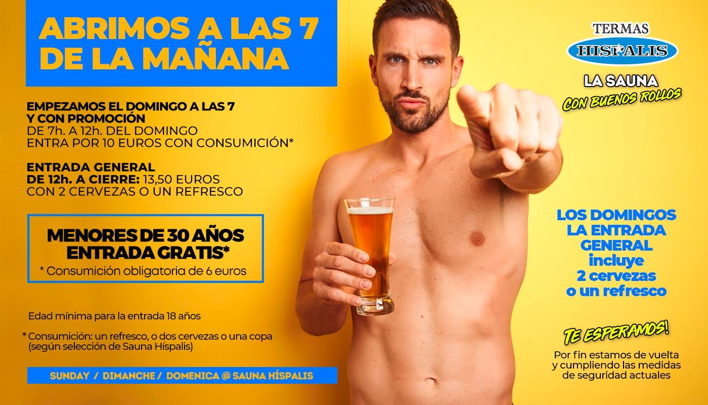 Sauna Gay en Sevilla los domingos desde las 7 de la mañana
