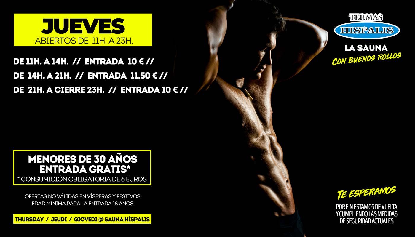 Jueves en Sauna Gay Híspalis de Sevilla