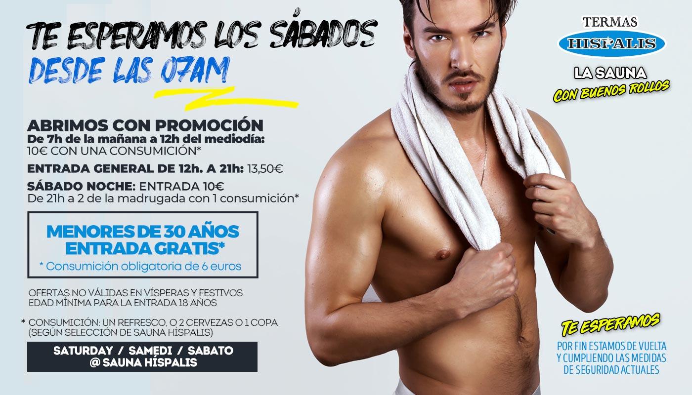 Sauna Gay en Sevilla los sábados desde las 7 de la mañana
